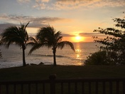 Beautiful sunset in Rincon Puerto Rico