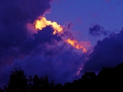 sunset clouds, 8-18-2017