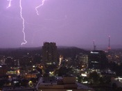 Lighting over the Heart of Towson Tonight