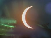 Eclipse through telescope