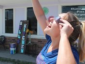 """""""Sam"""" viewing the eclipse."""