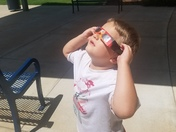 Watching the solar eclipse