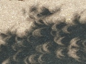 Solar eclipse shadows 2017