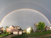There was a double rainbow by our house