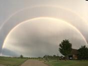 Beautiful double rainbow near Ankeny/Polk City area