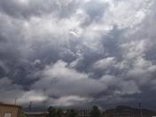 A little storm in Tucumcari mountain