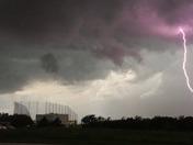 Oklahoma City storm near Top Golf
