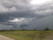 Clouds looking east from hwy 99 by Bowlegs, OK