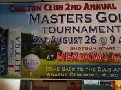 Carlton Club 2nd annual Master's Golf Tournament