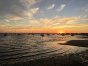 Sun set Lewis Bay