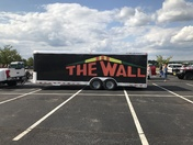 Traveling Vietnam Wall being escorted to Butler for viewing.