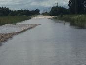 Flooding road