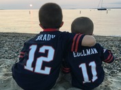 Brady and Edelman at Menemsha Beach