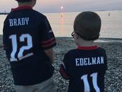 Brady and Edelman at Menemsha Beach