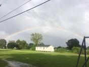 The rainbow after bad weather