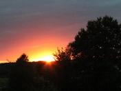 Sunset on August 28, 2017