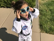 Future Astronaut watching her first Solar Eclipse