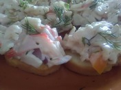 Green Chile Seafood Salad hors d'oeuvres