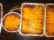 Smoked Pork Bueno Red Chile Enchiladas