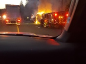 Westbound I80 tractor trailer fire