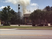 Fire at Pizza Hut in Easley on HWY 123