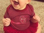 First Sooner Game day for the grand baby!