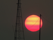 Another sun and windmill shot from Madison County tonight.