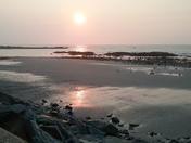 Sun rise North Hampton Beach