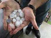 Rain and hail storm 9~5~17