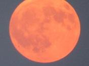 Moon in the smoke over Rio Rancho