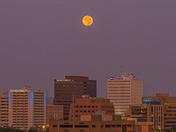 Smokey Full Moonset Over Albuquerque