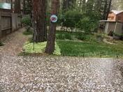 Big hail storm South Lake Tahoe