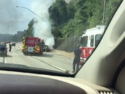 Car fire today on parkway east inbound