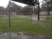 are yard flooded