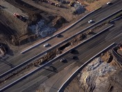 Caltrans demolished Midway Road Bridge at I-80