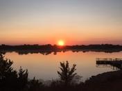 sunrise on 9/11 at kitchen lake.  12th & sooner rd