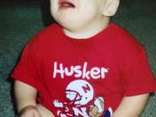 My son Hunter. Husker game was over
