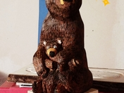 Mother and baby bear that I would carved vinmanscarving 2017