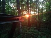 Sunset on mt. Clinton Road