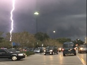 Lightning strike at Walmart