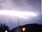 Lightning strike in East Orlando