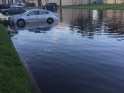 Parking lot flooding in Altamonte Springs