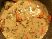 Green chili alfredo with shrimp