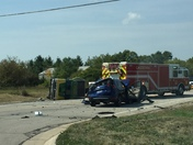 Accident at Hwy v and G in Caledonia, Wi