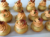 Mini Green Chile-Bacon Corn Muffins w/ Red Chile Frosting (Directions Part 2)