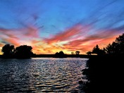 North Natomas sunset by the lake