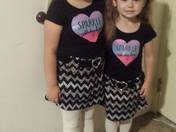First day of school for my granddaughters.