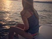 Cathy & the setting sun