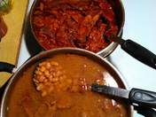 Chili Colorado and beans
