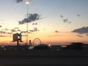 Morning sunrise with Ferris Wheel